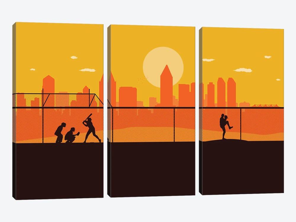 San Diego Playball by SKYWORLDPROJECT 3-piece Canvas Art