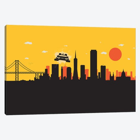 Outatime San Francisco Canvas Print #SKW107} by SKYWORLDPROJECT Canvas Art Print
