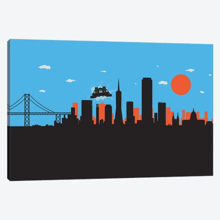 Outatime San Francisco II Canvas Print #SKW108} by SKYWORLDPROJECT Canvas Artwork