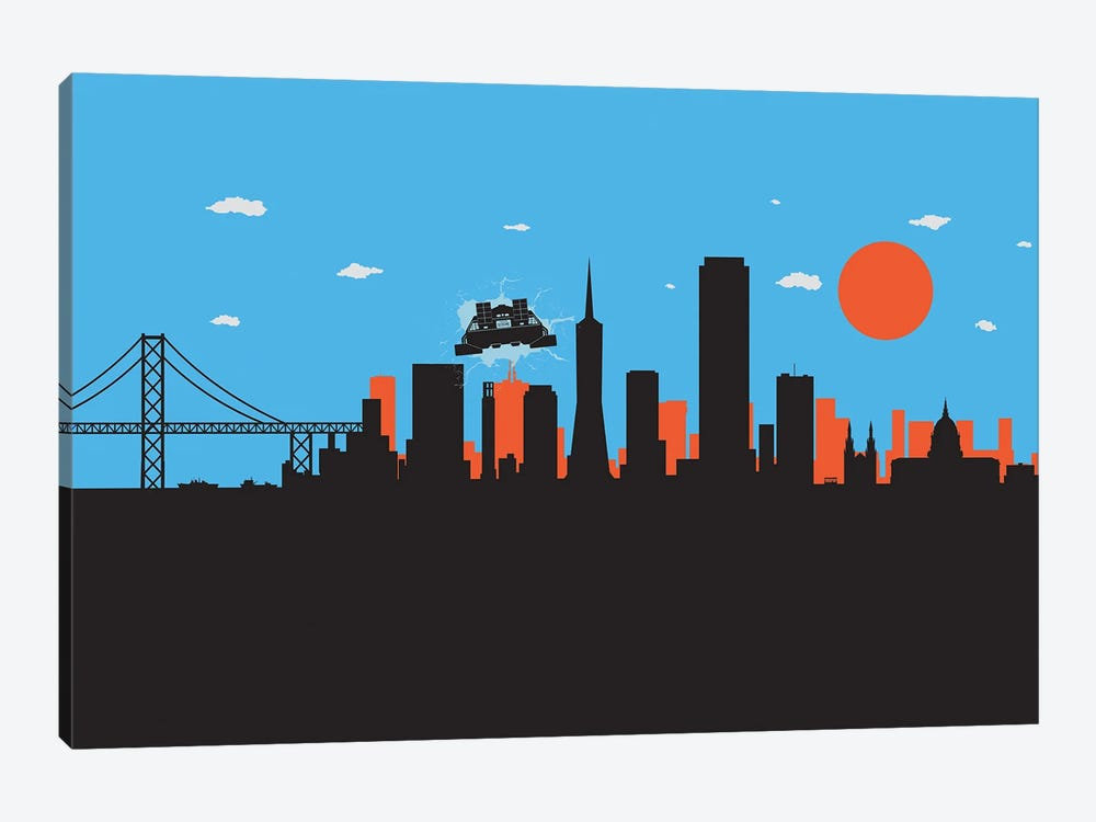 Outatime San Francisco II by SKYWORLDPROJECT 1-piece Canvas Artwork