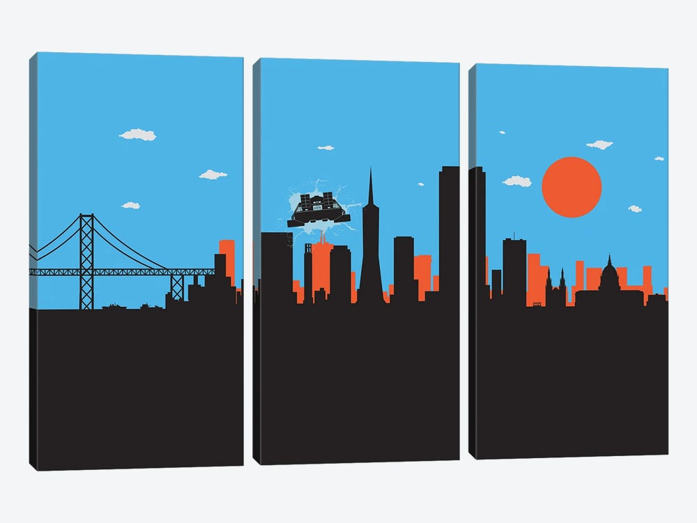 Outatime San Francisco II by SKYWORLDPROJECT 3-piece Canvas Artwork