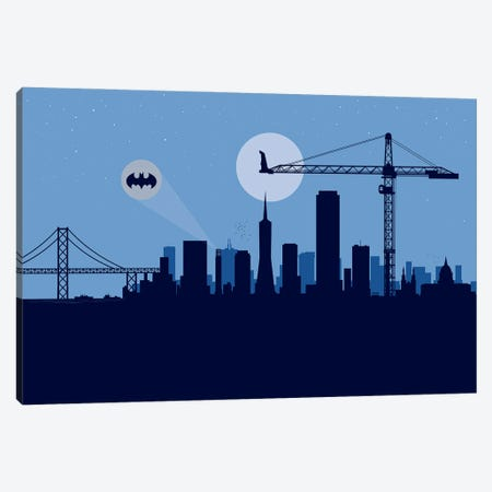 San Francisco Protector Canvas Print #SKW109} by SKYWORLDPROJECT Canvas Wall Art