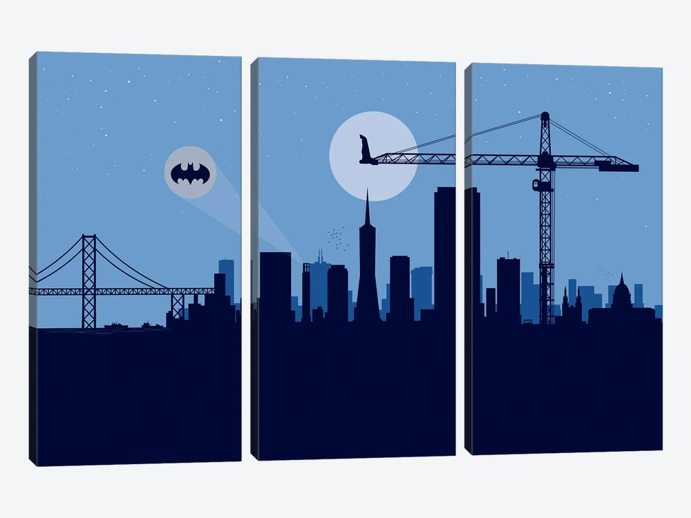 San Francisco Protector by SKYWORLDPROJECT 3-piece Canvas Print