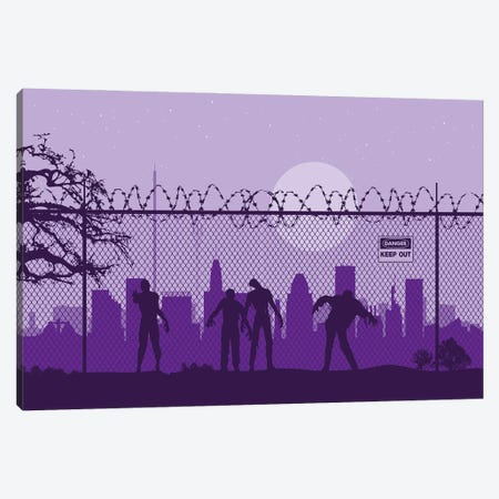 Baltimore Zombies Canvas Print #SKW10} by SKYWORLDPROJECT Canvas Art