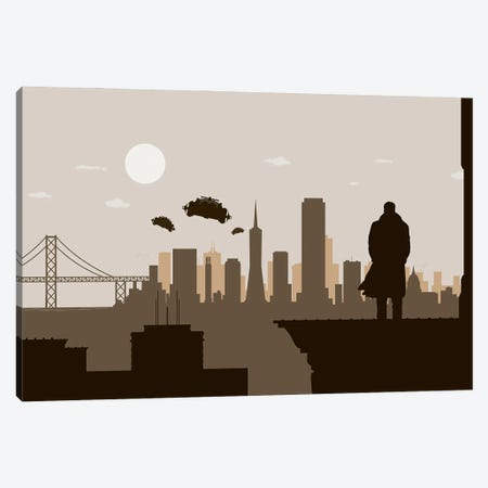 San Francisco Runner Canvas Print #SKW111} by SKYWORLDPROJECT Canvas Print