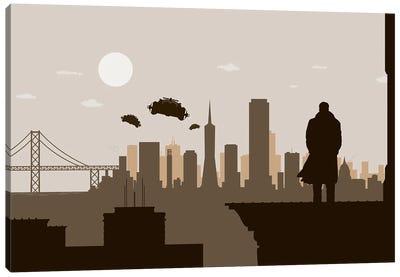 San Francisco Runner Canvas Art Print