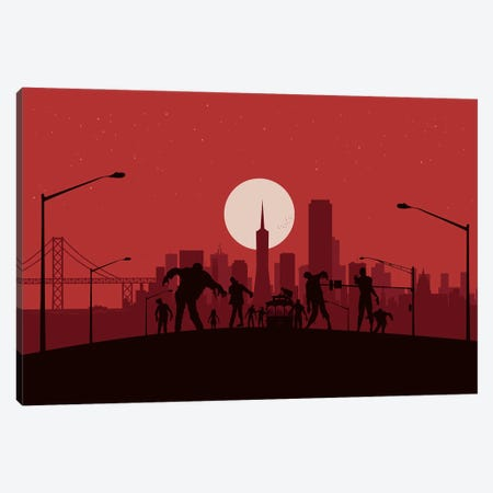 San Francisco Zombies Canvas Print #SKW112} by SKYWORLDPROJECT Canvas Print