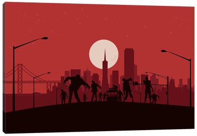 San Francisco Zombies Canvas Art Print