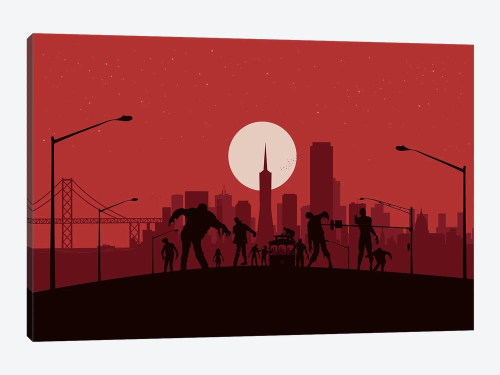 San Francisco Zombies by SKYWORLDPROJECT 1-piece Canvas Print