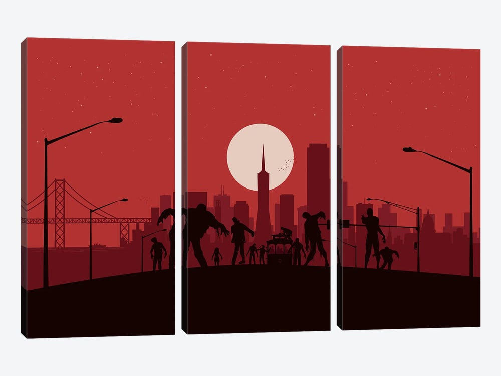 San Francisco Zombies by SKYWORLDPROJECT 3-piece Art Print