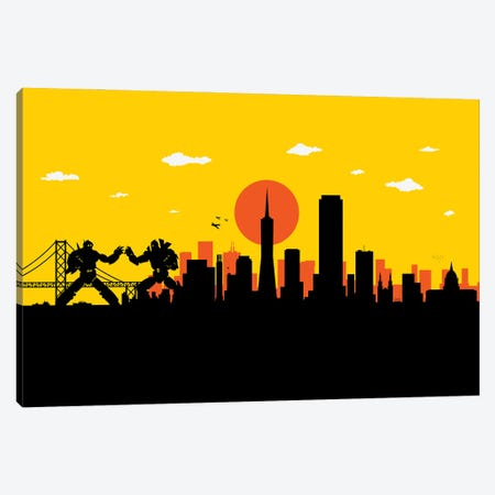 San Francisco Robots Canvas Print #SKW113} by SKYWORLDPROJECT Canvas Art Print
