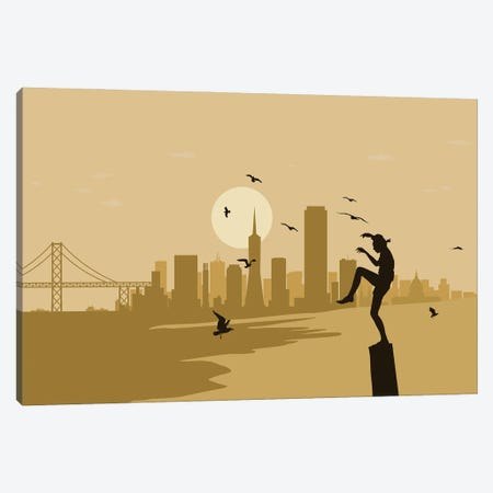 San Francisco Karate Canvas Print #SKW114} by SKYWORLDPROJECT Canvas Artwork