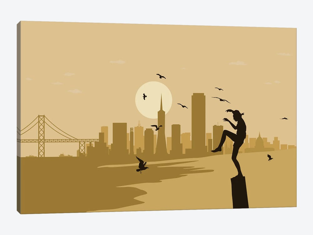 San Francisco Karate by SKYWORLDPROJECT 1-piece Art Print