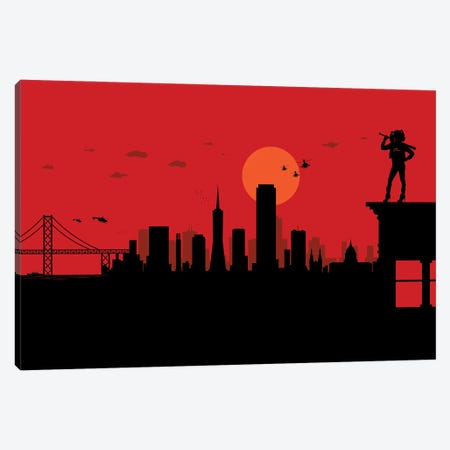 San Francisco Watcher Canvas Print #SKW115} by SKYWORLDPROJECT Canvas Wall Art