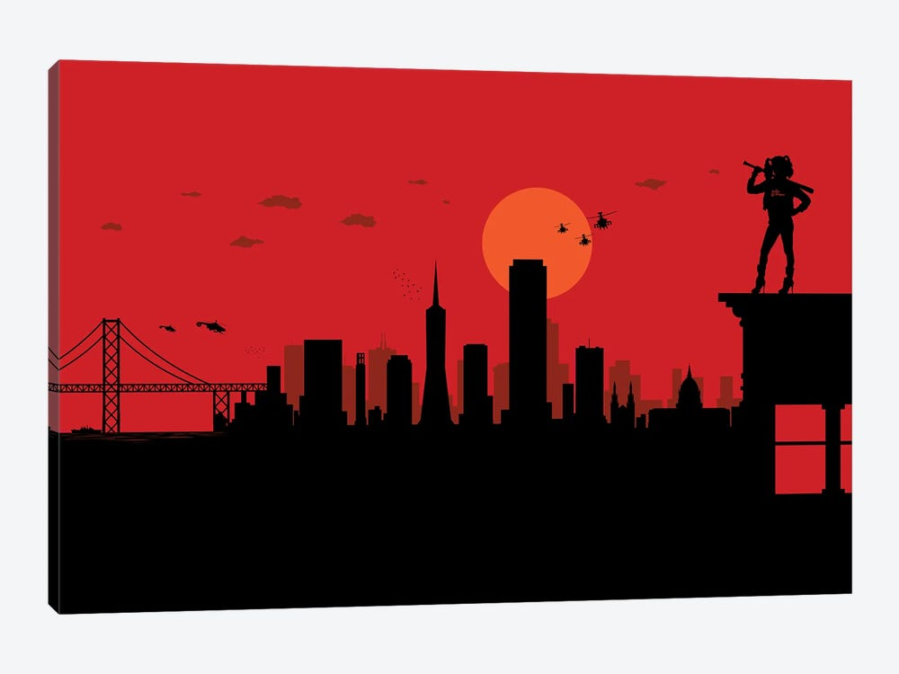 San Francisco Watcher by SKYWORLDPROJECT 1-piece Canvas Wall Art
