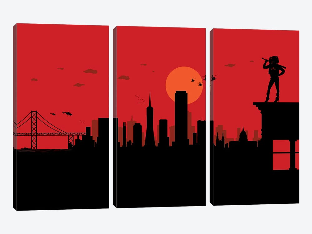 San Francisco Watcher by SKYWORLDPROJECT 3-piece Canvas Art