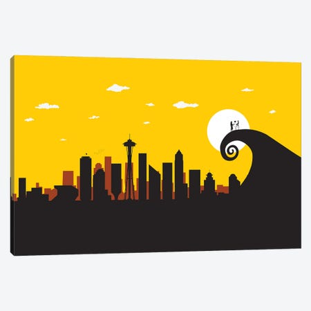 Seattle's Nightmare Canvas Print #SKW116} by SKYWORLDPROJECT Canvas Wall Art