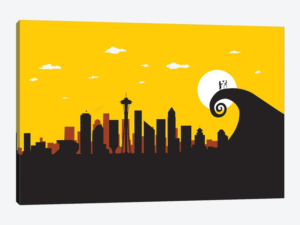 Seattle's Nightmare by SKYWORLDPROJECT 1-piece Canvas Print