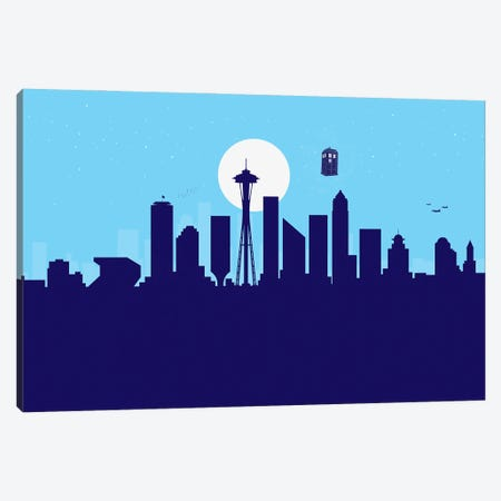 Seattle Crossing Canvas Print #SKW119} by SKYWORLDPROJECT Canvas Print