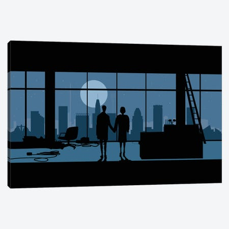Baltimore's club Canvas Print #SKW11} by SKYWORLDPROJECT Canvas Wall Art