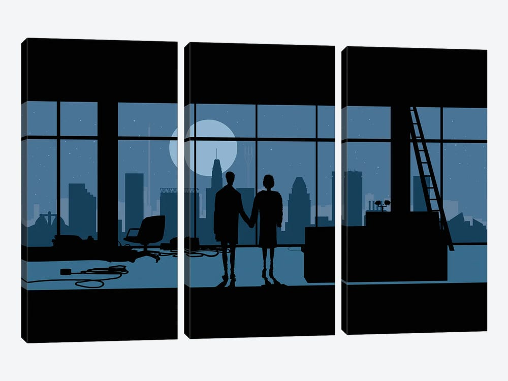Baltimore's club by SKYWORLDPROJECT 3-piece Canvas Art Print