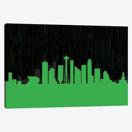 Seattle Code Canvas Print #SKW120} by SKYWORLDPROJECT Canvas Wall Art