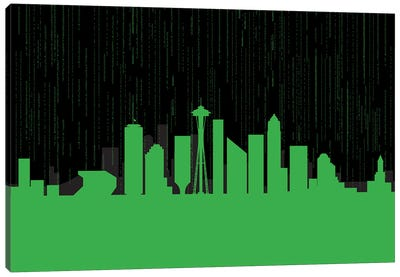 Seattle Code Canvas Art Print