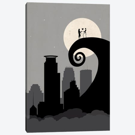 Minneapolis Nightmare Canvas Print #SKW122} by SKYWORLDPROJECT Canvas Artwork