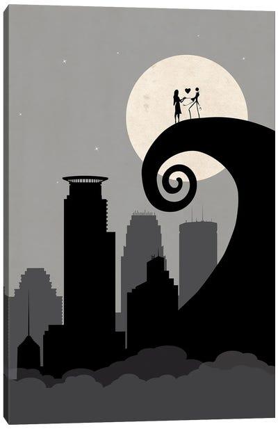 Minneapolis Nightmare Canvas Art Print