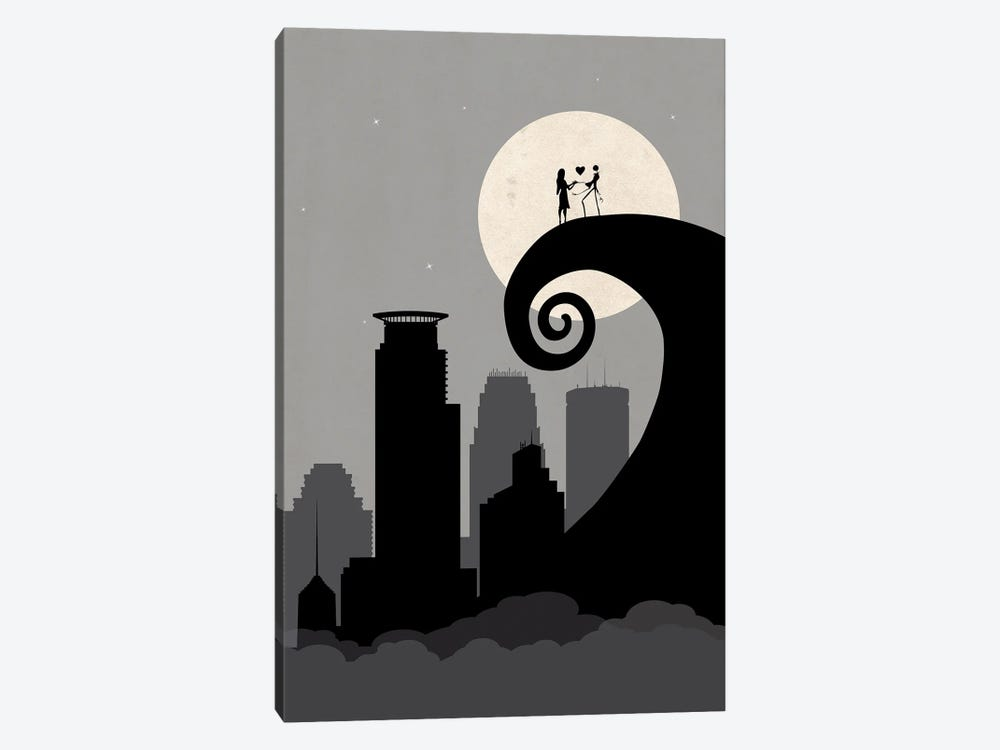 Minneapolis Nightmare by SKYWORLDPROJECT 1-piece Canvas Wall Art