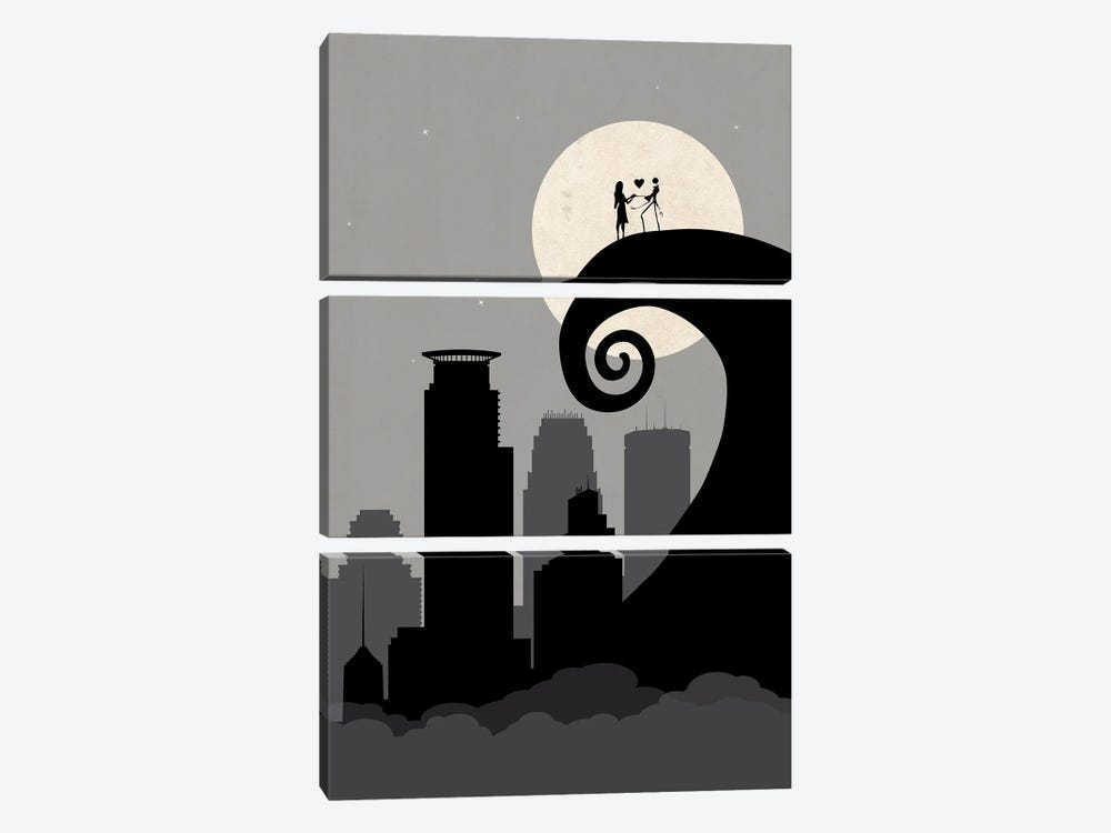 Minneapolis Nightmare by SKYWORLDPROJECT 3-piece Canvas Artwork