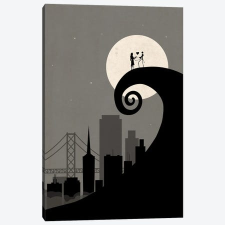 San Francisco Nightmare Scene Canvas Print #SKW123} by SKYWORLDPROJECT Canvas Artwork