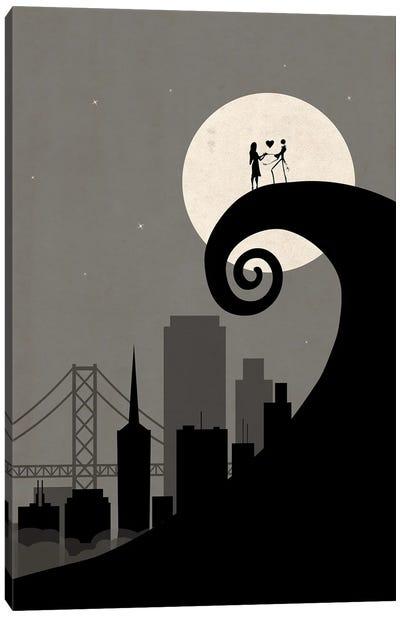 San Francisco Nightmare Scene Canvas Art Print