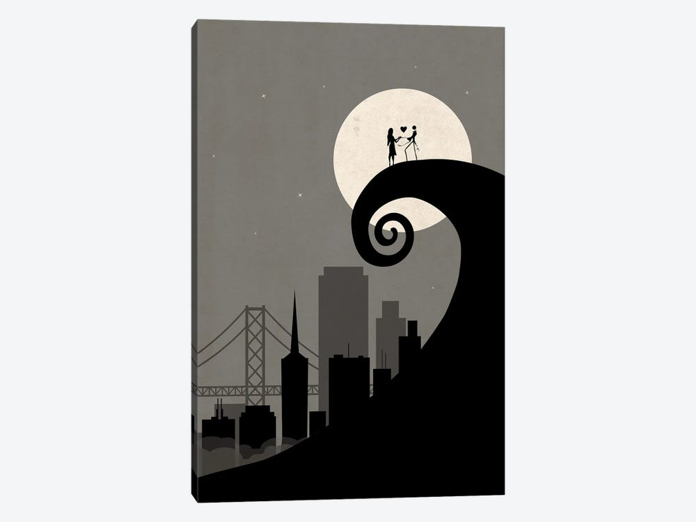 San Francisco Nightmare Scene by SKYWORLDPROJECT 1-piece Canvas Art Print