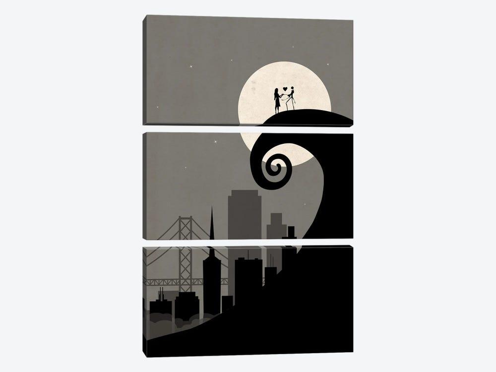 San Francisco Nightmare Scene by SKYWORLDPROJECT 3-piece Art Print