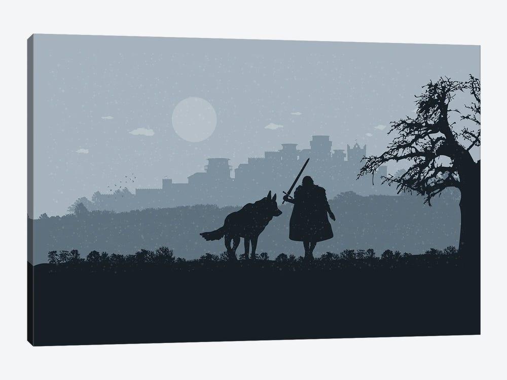 Winter walk by SKYWORLDPROJECT 1-piece Canvas Art Print