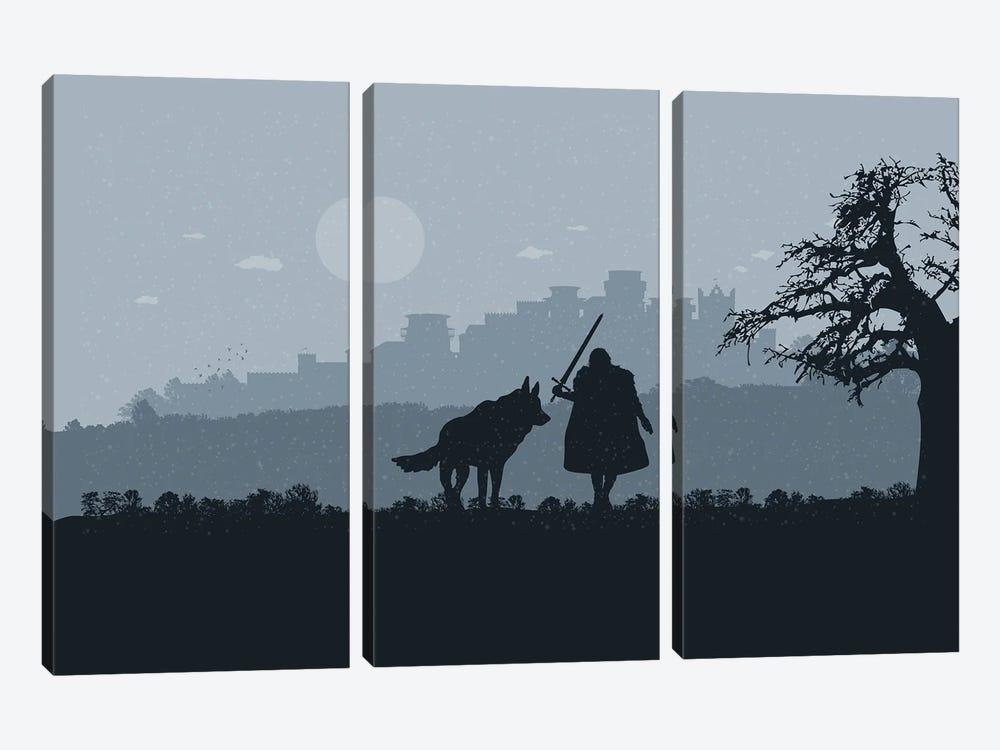 Winter walk by SKYWORLDPROJECT 3-piece Art Print