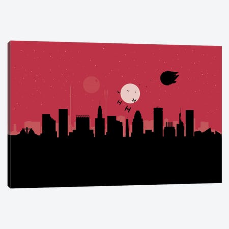 Baltimore Spaceships Canvas Print #SKW12} by SKYWORLDPROJECT Canvas Artwork