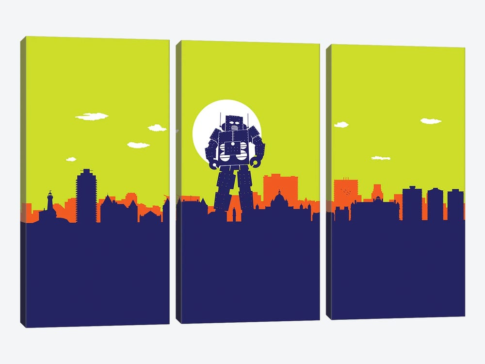 Victoria Robot by SKYWORLDPROJECT 3-piece Canvas Art Print