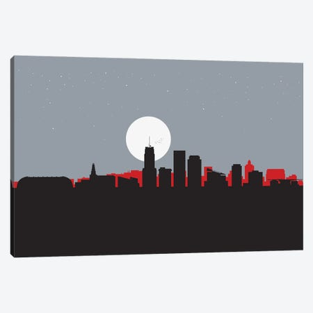 Akron, Ohio Canvas Print #SKW132} by SKYWORLDPROJECT Art Print