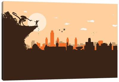 Albany NY. Aliens Battle Canvas Art Print