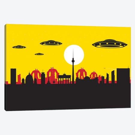Berlin Robots Ufo Canvas Print #SKW141} by SKYWORLDPROJECT Canvas Art