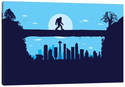 Seattle Bigfoot Canvas Art Print