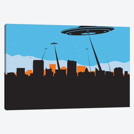 Boise Idaho Ufo Visit Canvas Print #SKW146} by SKYWORLDPROJECT Canvas Art Print