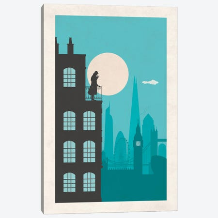 Sherlock London Canvas Print #SKW147} by SKYWORLDPROJECT Canvas Print