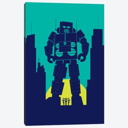 Galactic Robot Canvas Print #SKW148} by SKYWORLDPROJECT Canvas Wall Art