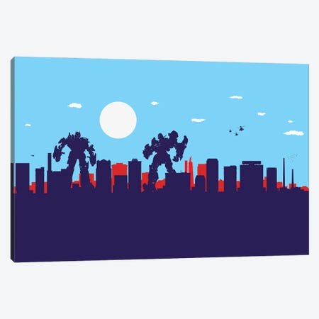 Birmingham Alabama Protectors Canvas Print #SKW14} by SKYWORLDPROJECT Canvas Print