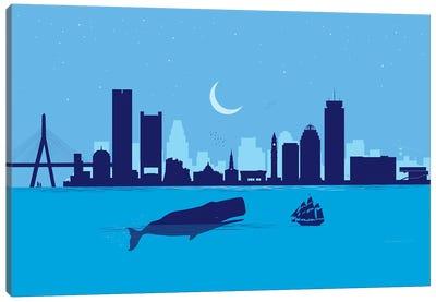 Boston Whale Canvas Art Print
