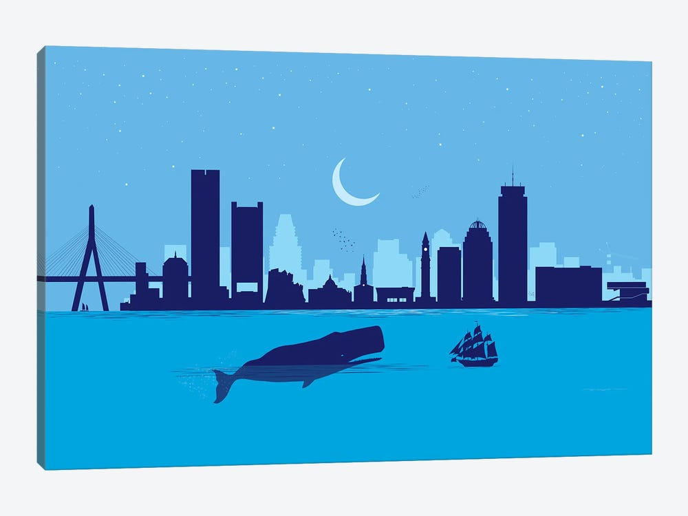 Boston Whale by SKYWORLDPROJECT 1-piece Canvas Print
