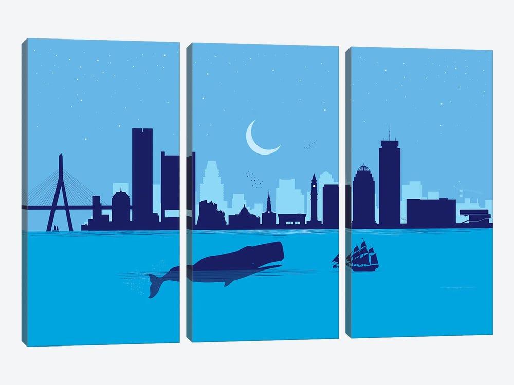 Boston Whale by SKYWORLDPROJECT 3-piece Art Print